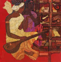 Siddharth Shingade Paintings | Figurative Painting - Red Door 2 by artist Siddharth Shingade | ArtZolo.com