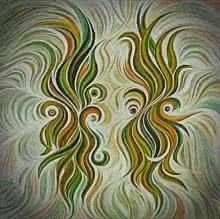 Soulmates Sienna | Painting by artist Manju Lamba | acrylic | Canvas
