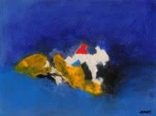 Blue Ride II   Painting by artist Sadhna Raddi   acrylic   Paper