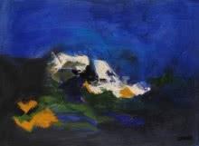 Blue Ride III | Painting by artist Sadhna Raddi | acrylic | Paper