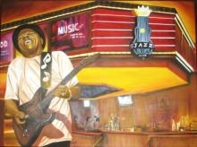 Figurative Oil Art Painting title 'Jazz' by artist Parul V Mehta