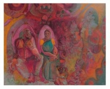 GOLDEN JUBILEE OF THEIR FIRST MARRIAGE | Painting by artist Shiv Kumar Swami | acrylic | Canvas