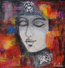 contemporary Acrylic Art Painting title Queen by artist Purnima Gupta