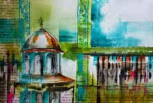 Cityscape Watercolor Art Painting title Vaithisvarankovil by artist Veronique Piaser-moyen