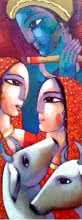 Leela | Painting by artist Sekhar Roy | acrylic | Canvas