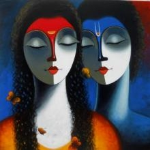Love | Painting by artist Santosh Chattopadhyay | acrylic | Canvas