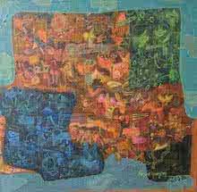 Mi - Rage | Painting by artist Pinaki Ranjan Bera | acrylic | Canvas