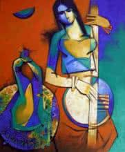 Symphony I | Painting by artist Arvind Kolapkar | acrylic | Canvas