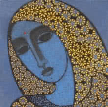Head II | Painting by artist Mamta Mondkar | acrylic | Canvas