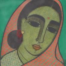Head III | Painting by artist Mamta Mondkar | acrylic | Canvas
