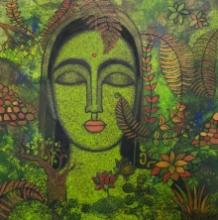 Figurative Acrylic Art Painting title Peace Of Nature by artist Mamta Mondkar