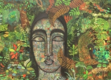 Figurative Acrylic Art Painting title Peace Of Nature 3 by artist Mamta Mondkar