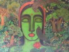 Figurative Acrylic Art Painting title Peace Of Nature 4 by artist Mamta Mondkar