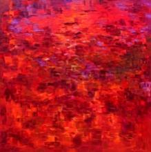 Landscape Acrylic Art Painting title 'Landscape Series 1' by artist Solomon Rajendiran
