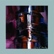 Abstract Acrylic Art Painting title 'Present landscape' by artist Solomon Rajendiran