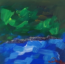 Landscape Acrylic Art Painting title 'Untitled 13' by artist Solomon Rajendiran
