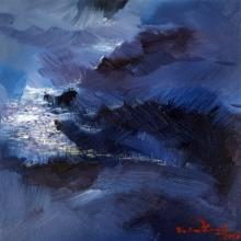Landscape Acrylic Art Painting title Untitled 14 by artist Solomon Rajendiran