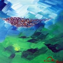 Landscape Acrylic Art Painting title Untitled 9 by artist Solomon Rajendiran