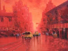 First Light | Painting by artist Purnendu Mandal | oil | Canvas