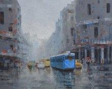 Rainy Day In Kolkata   Painting by artist Purnendu Mandal   acrylic   Canvas