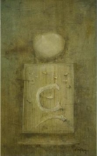 The Abstract Board | Painting by artist Ramesh Thorat | oil | Canvas