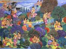 Vikramorvasiyam   Painting by artist Satish Chavhan   watercolor   Paper