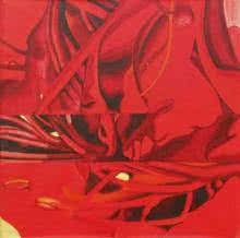 Hibiscus  | Painting by artist Balaji G. Bhange | acrylic | Canvas