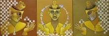 Figurative Acrylic Art Painting title The King by artist Satyajeet Shinde