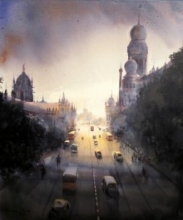 Mumbai Forever | Painting by artist Bhuwan Silhare | acrylic | Canvas