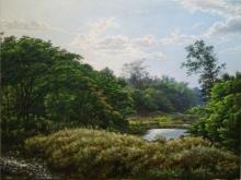 National Park 1 | Painting by artist Sanjay Sarfare | oil | Canvas