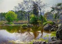 Natoinal Park River 2 | Painting by artist Sanjay Sarfare | oil | Canvas