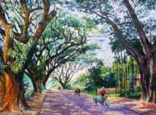 Northbengal | Painting by artist Barun Singh | acrylic | Handmade Paper