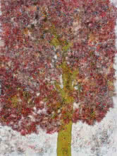 Bhaskar Rao | Acrylic Painting title Treescape 55 on Canvas | Artist Bhaskar Rao Gallery | ArtZolo.com