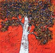 Treescape 61 | Painting by artist Bhaskar Rao | acrylic | Canvas