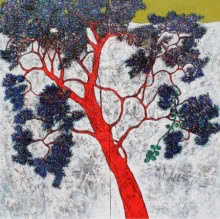 Treescape 22 | Painting by artist Bhaskar Rao | acrylic | Canvas