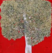 Treescape 77   Painting by artist Bhaskar Rao   acrylic   Canvas