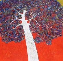 Nature Acrylic Art Painting title Treescape 110 by artist Bhaskar Rao