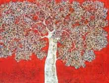 Treescape 89 | Painting by artist Bhaskar Rao | acrylic | Canvas