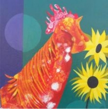 Orange And Yellow | Painting by artist Abhiram Bairu | acrylic | Canvas