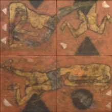 Untitled 2 | Painting by artist Sukhendu Paul | mixed-media | Canvas