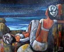 Figurative Acrylic Art Painting title 'Alive 1' by artist Suruchi Jamkar