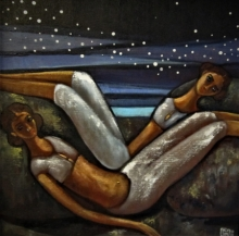 Figurative Acrylic Art Painting title 'Alive 2' by artist Suruchi Jamkar