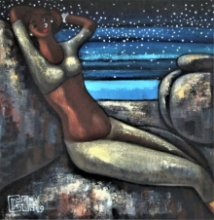 Figurative Acrylic Art Painting title 'Alive 3' by artist Suruchi Jamkar