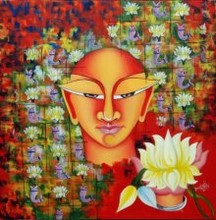 02 - small | Painting by artist Deepali Mundra | acrylic-oil | Canvas