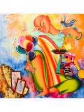 Dream merchant | Painting by artist Deepali Mundra | Acrylic | Canvas