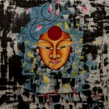 contemporary Acrylic-oil Art Painting title 'Ananta' by artist Deepali Mundra