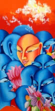 The dreamer | Painting by artist Deepali Mundra | acrylic-oil | Canvas