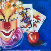 Deepali Mundra | Acrylic-oil Painting title Joker on Canvas | Artist Deepali Mundra Gallery | ArtZolo.com
