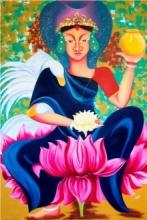 Padmavati | Painting by artist Deepali Mundra | acrylic-oil | canvas