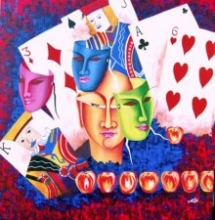 Gamble Of Life | Painting by artist Deepali Mundra | acrylic | Canvas